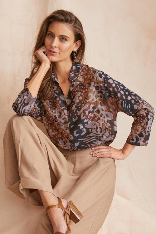 Grace Hill Cotton Silk Blend Shirt