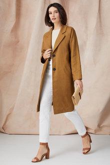 Grace Hill Linen Blend Coat - 248323