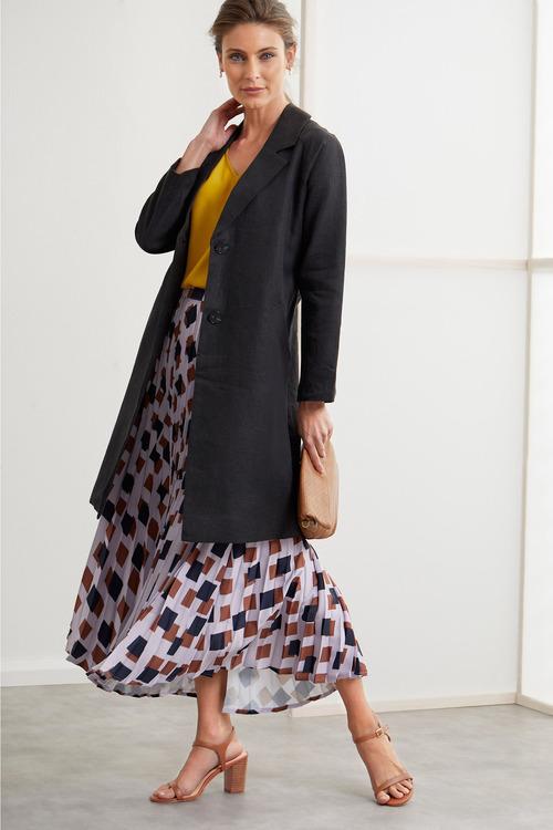 Grace Hill Linen Blend Coat
