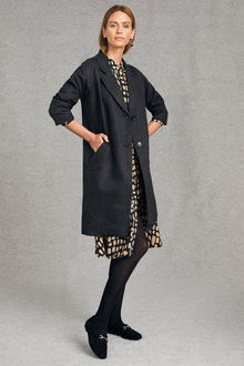 Grace Hill Linen Blend Coat - 248323