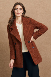Grace Hill Boucle Double Breasted Coat - 248324