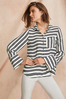 Grace Hill Silk Blend Shirt - 248325