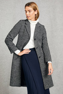 Grace Hill Tweed Classic Coat