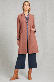 Grace Hill Tweed Classic Coat - 248327