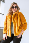Plus Size - Sara Faux Fur Jacket