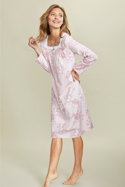 Mia Lucce Flannel Long Sleeve Nightie
