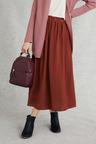 Grace Hill Satin Midi Skirt
