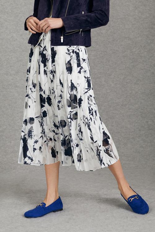 Grace Hill Burnout Pleated Skirt