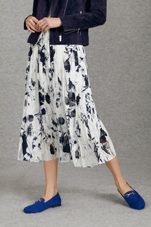 Grace Hill Burnout Pleated Skirt