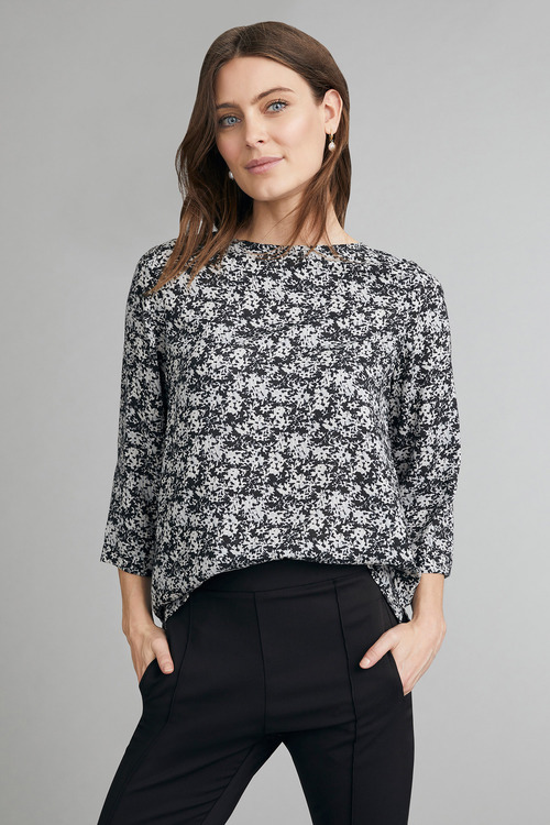 Capture 3/4 Sleeve Shell Top