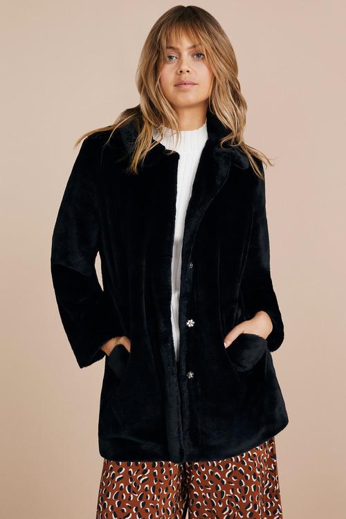 Emerge Faux Fur Coat