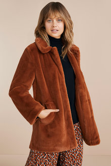 Emerge Faux Fur Coat
