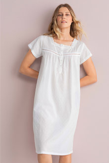 Mia Lucce Cotton Dobby Nightie - 248500