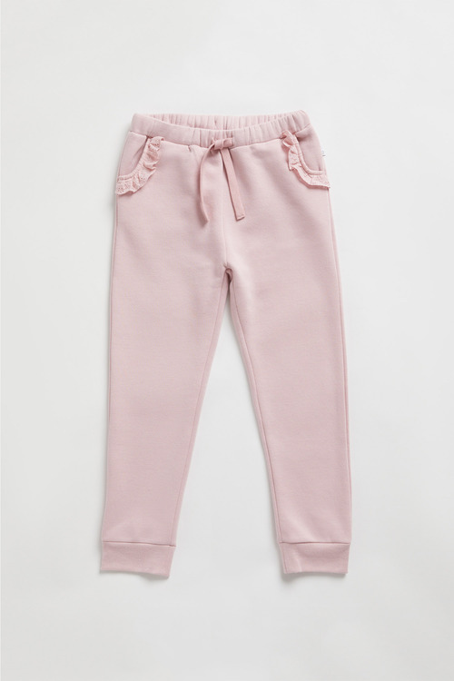 Pumpkin Patch Fleece Lace Trim Jogger