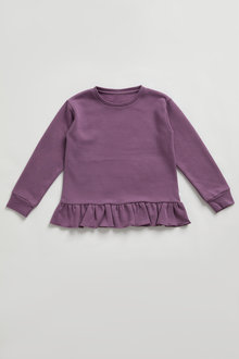 Pumpkin Patch Fleece Frill Hem Top - 248511