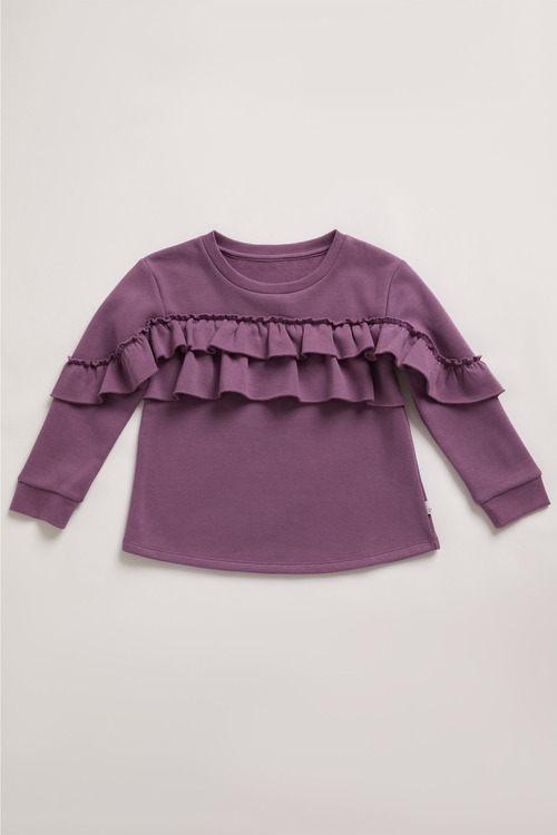 Pumpkin Patch Fleece Ruffle Top