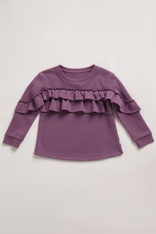 Pumpkin Patch Fleece Ruffle Top - 248514