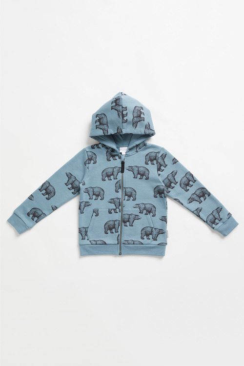 Pumpkin Patch Fleece Bear Print Hoodie