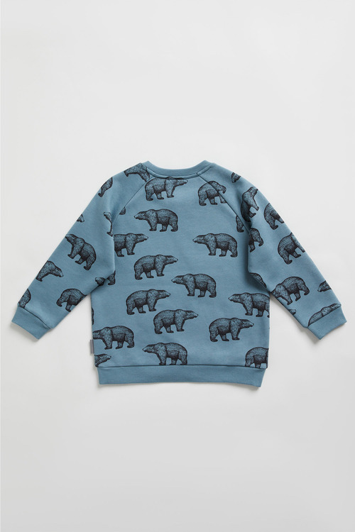 Pumpkin Patch Fleece Bear Print Top