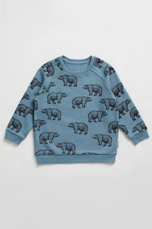 Pumpkin Patch Fleece Bear Print Top - 248523