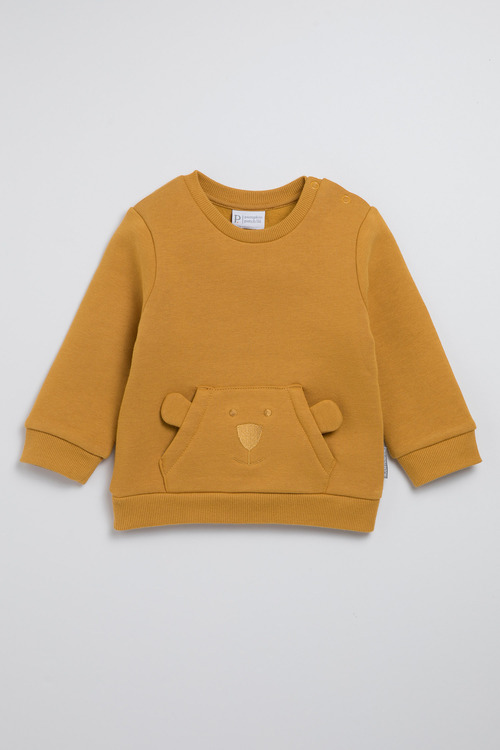 Pumpkin Patch Fleece Bear Top