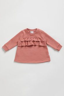 Pumpkin Patch Fleece Ruffle Top - 248530