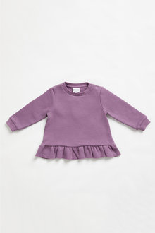 Pumpkin Patch Fleece Frill Hem Top