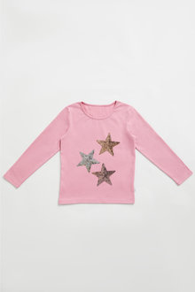 Pumpkin Patch Stars Sequin Tee
