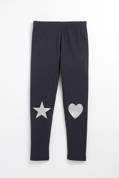 Pumpkin Patch Heart Star Leggings