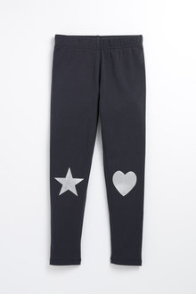 Pumpkin Patch Heart Star Leggings