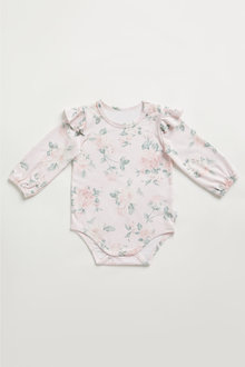 Pumpkin Patch Old Rose Frill Bodysuit