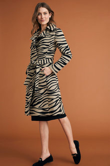 Capture Animal Jacquard Trench Coat