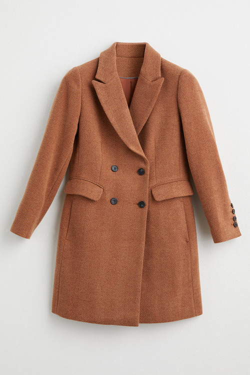 Grace Hill Wool Blend Double Breasted Coat