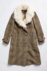 Grace Hill Faux Fur Detachable Collar Coat