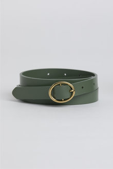 Skinny Leather Belt - 248616