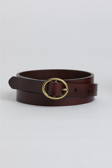 Skinny Leather Belt - 248618