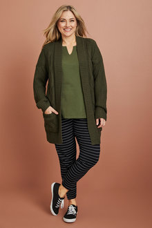Plus Size - Sara Cable Cardigan