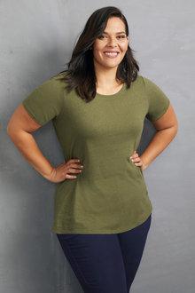 Sara Linen Blend Tee - 248652