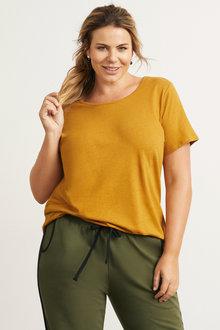 Plus Size - Sara Linen Blend Tee - 248652