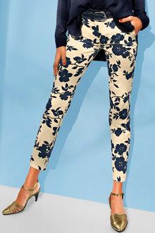 Heine Floral Print Pants - 248682