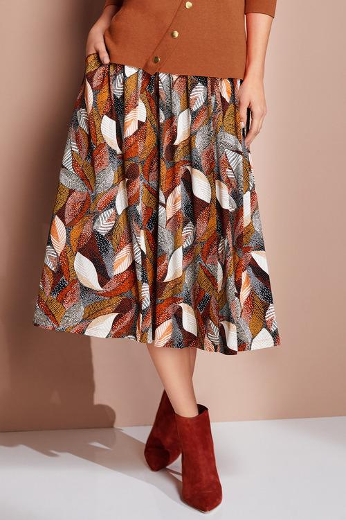 European Collection Jersey Print Skirt