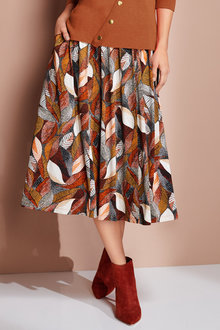 European Collection Jersey Print Skirt