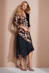 European Collection Spliced Asymmetric Dress
