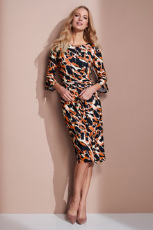 European Collection Flute Sleeve Dress