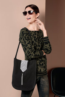 Heine Animal Print Sweater