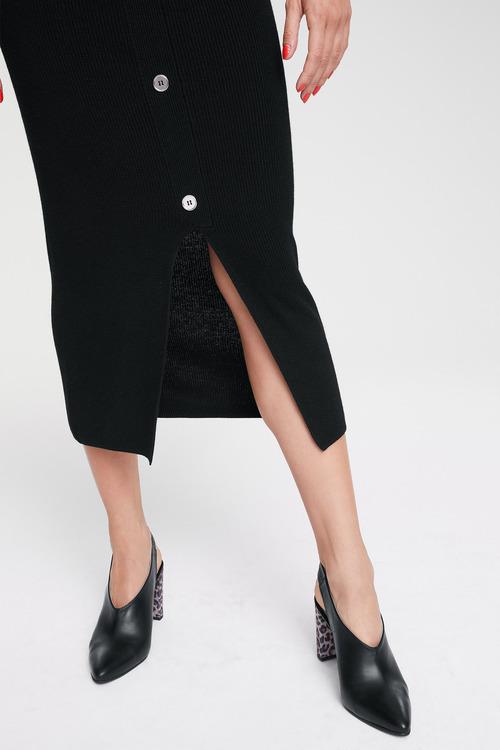 Heine Button Detail Knit Skirt