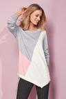 European Collection Colour Splice Sweater