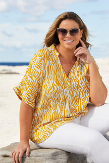 Plus Size - Sara Short Sleeve Shirt