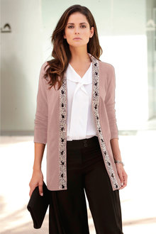 Euro Edit Embellished Cardigan - 248741