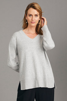 Simply You Cashmere V Neck Sweater